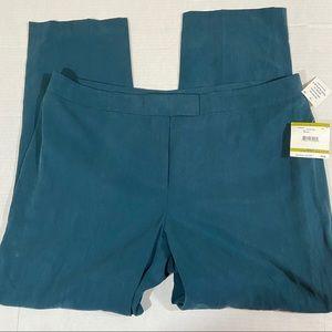 Anne Klein linen blend flat front pants
